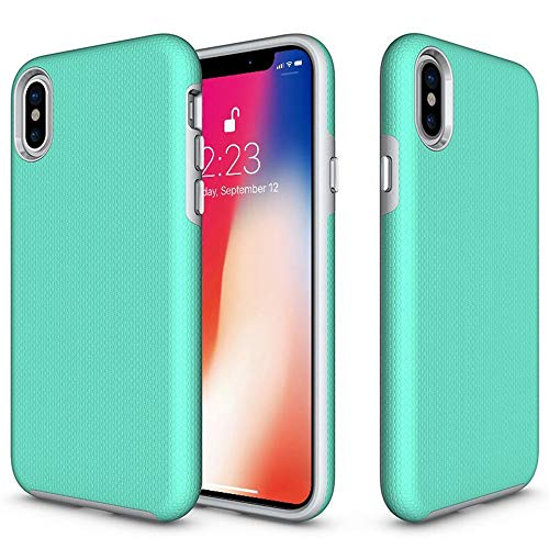 (QQWANG iPhone XR Cases, Armor Shock Absorbing Heavy Duty TPU + PC [Dual Guard Protection] Anti-Scratch Hybrid Bumper Series Durable Cover_Hot)