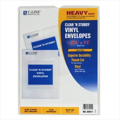 C-Line Products 84911BNDL50EA Clear N Sturdy Vinyl Envelopes 8-.5 x 11 - Set of 50 ()