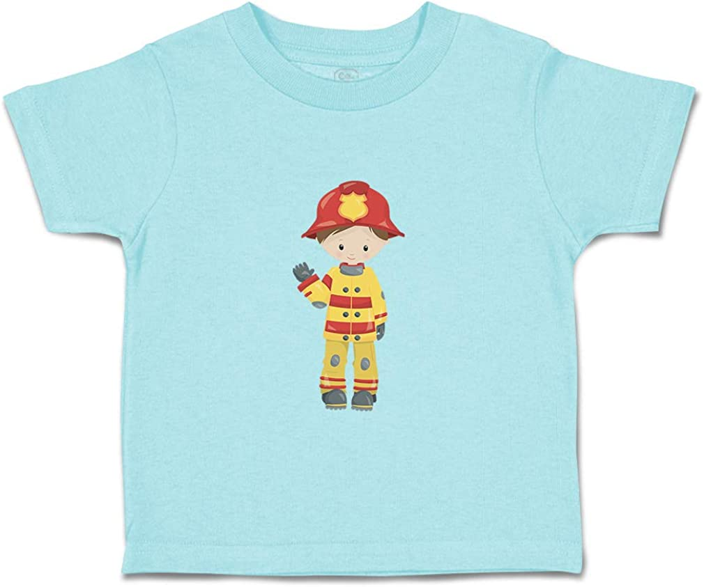 Custom Baby /& Toddler T-Shirt Firefighter Boy Cotton Boy Girl Clothes