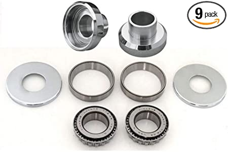 Chrome Bearing Cups For Harley-Davidson 1977-88 And Most Custom Frames.