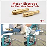 Welding Gun Lock Head Copper Tighten Head of Dent Pulling Machine Spot Welding Torch for Car Sheet Metal Repair Dent Puller (Meson Electrode_1pcs)