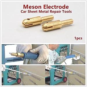 Welding Gun Lock Head Copper Tighten Head of Dent Pulling Machine Spot Welding Torch for Car Sheet Metal Repair Dent Puller (Meson Electrode_1pcs)