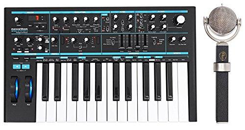 Blue Dragonfly Studio Condenser Microphone+25-Key MIDI Keyboard Synthesizer