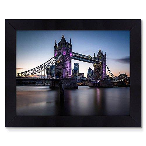 Quadro Moldura Preta 48x38cm Fotografia Tower Bridge