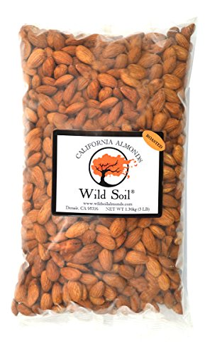 - Wild Soil Almonds - Distinct and Superior to Organic, Probiotic, Unsalted, Roasted 3LB Bag