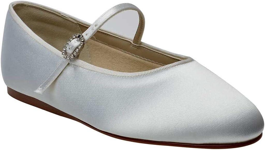 Rainbow Club Abigail Infants Bridesmaid or Communion Shoes UK7//EU26//US8, IVORY