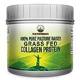 Pure Pasture Raised Grass Fed Hydrolyzed Collagen Protein by Peak Performance. Paleo Friendly, Gluten & Dairy Free Collagen Peptides (Unflavored Collagen)