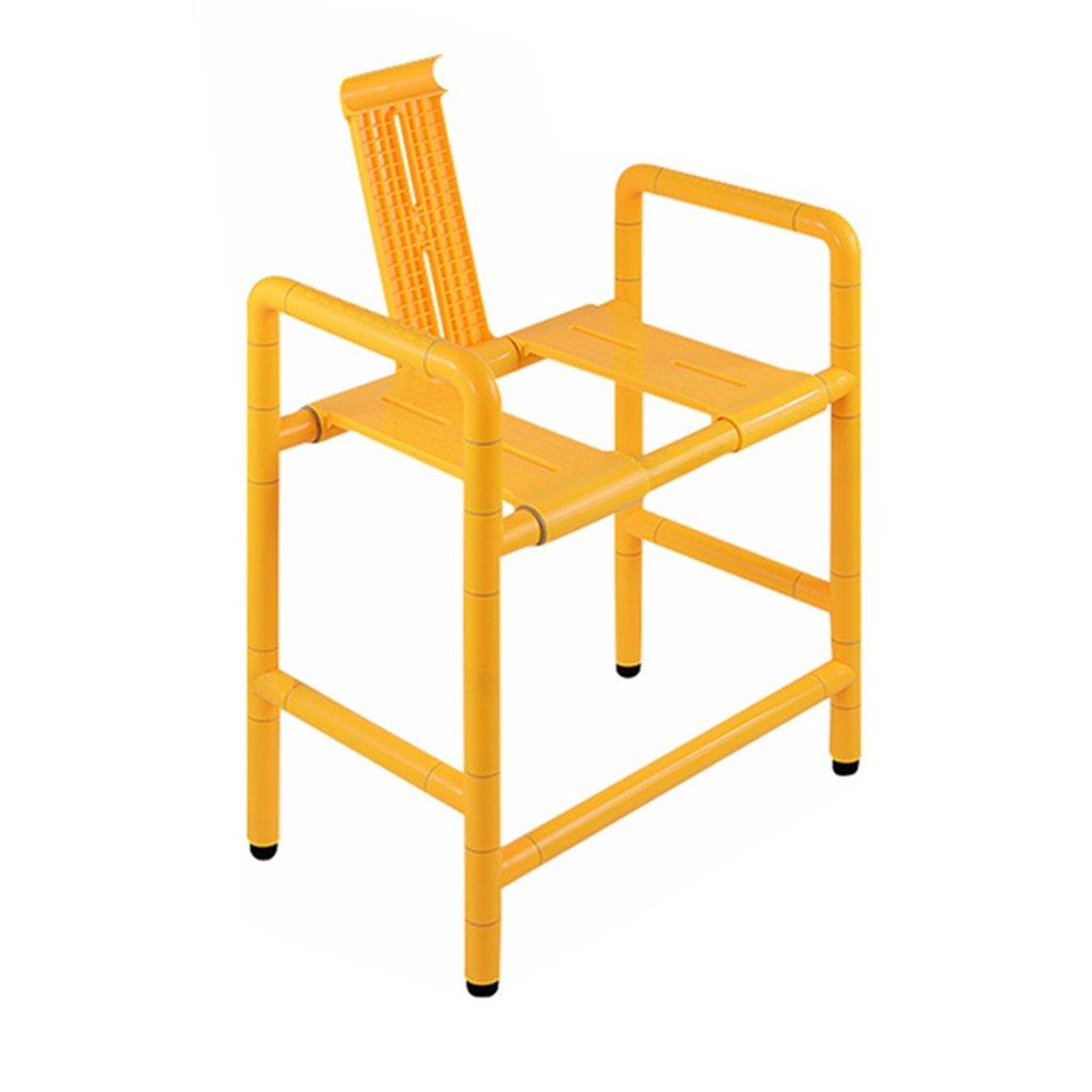 シャワー/バスタブスツール椅子シャワーシートスツール高齢者/障害者/妊婦用アンチスリップマットシャワーチェアヘビーデューティイエローマックス。 300kg(54cm)   B07F5HN7TQ