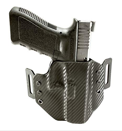 Tru-Fit Tactical OWB Gun Holster (Carbon Black) ()