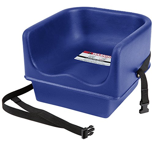 (Cambro 100BCS Navy Blue Single Seat Booster Chair with Strap)