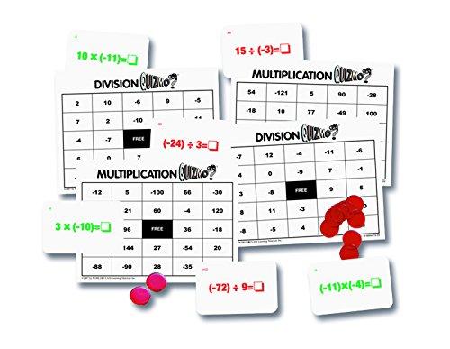 math BINGO integers games