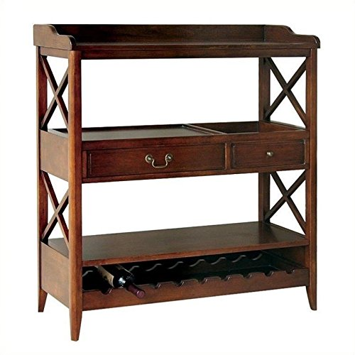 Wayborn Home Furnishing 9113 Eiffel Wine Storage Console, Brown by Wayborn Home Furnishing Inc