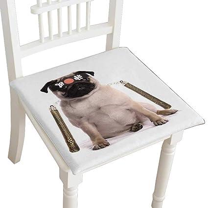Amazon.com: Squared Seat Cushion Ninja Karate Pug Studio ...