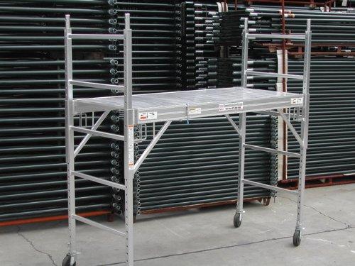 2 All Aluminum 6 feet Multi Purpose Scaffold Rolling Tower Baker-Style Scaffold with U Lock