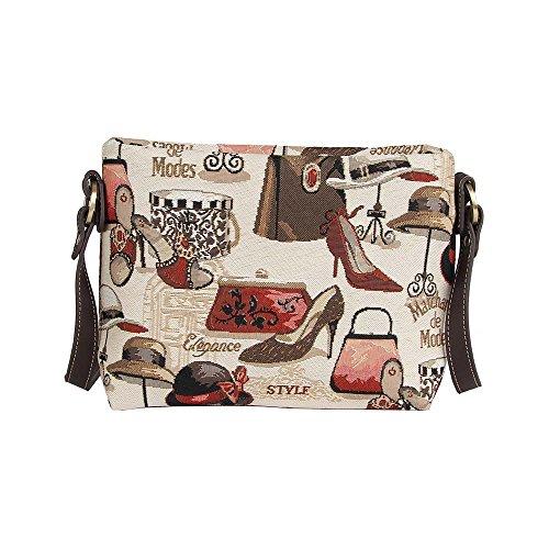 Borsetta donna Signare alla moda in tessuto stile arazzo a spalla borsa messenger a tracolla vari disegni Boutique