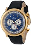 Invicta Men's 13057 Vintage Chronograph Blue Dial Dark Blue Leather Watch