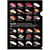 クリアファイル 寿司