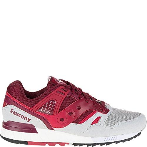 Saucony Originals Men's Grid SD  Sneaker, Red/Grey, 9 M US