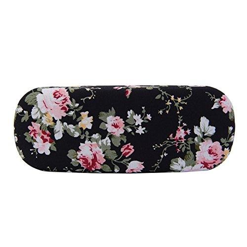 Philley Floral Fabrics Retro Light Hard Eyeglasses Case (C)