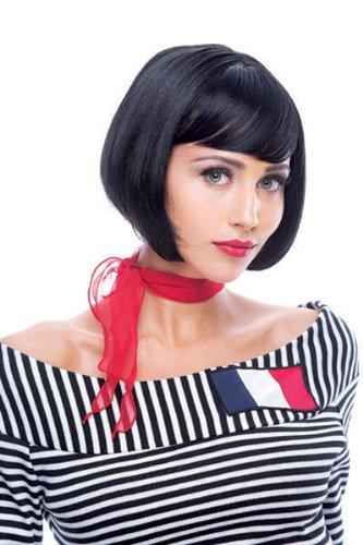 Paper Magic Women's French Kiss Natasha Wig, Black, One Size