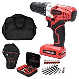 8V screwdriver set with Drill Holster,Annular Cutter,Screwdriver Bit Set and Tool Bag