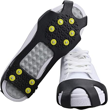 19 Teeth Ice Snow Anti Slip Shoes Spikes Grips Grippers Crampon Cleats Winter UK