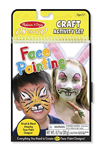 Melissa & Doug On the Go Face Painting Craft Activity Set - 35+ Designs (Kids Halloween Face Painting)