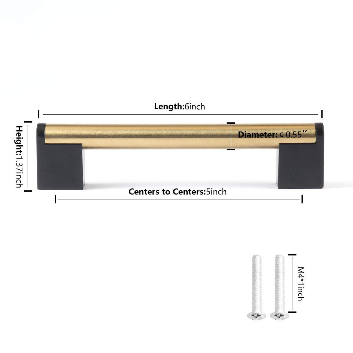 Amazon.com: Fulgente - Tiradores de níquel cepillado para ...
