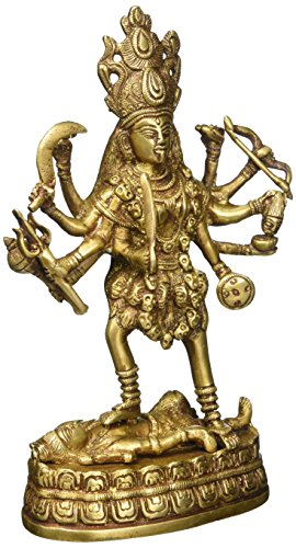 Hindu Deity Goddess Kali Statue Sulpture Brass Décor, for sale  Delivered anywhere in USA