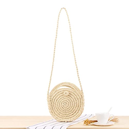 Amazon.com: Bolsa de paja tejida hecha a mano, bolso de mano ...