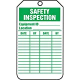 Accuform TRS315CTM PF-Cardstock Inspection & Status Record Tag, Legend