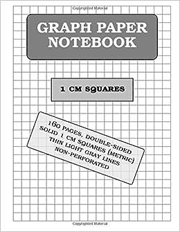 amazon com graph paper notebook 1 cm squares metric 160 pages