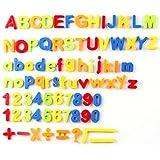 McHo 知育玩具 冷蔵庫用マグネット 磁石 英語 数字 マグネット アルファベット おもちゃ 冷蔵庫用知育玩具 マグネット 磁石 72ピース