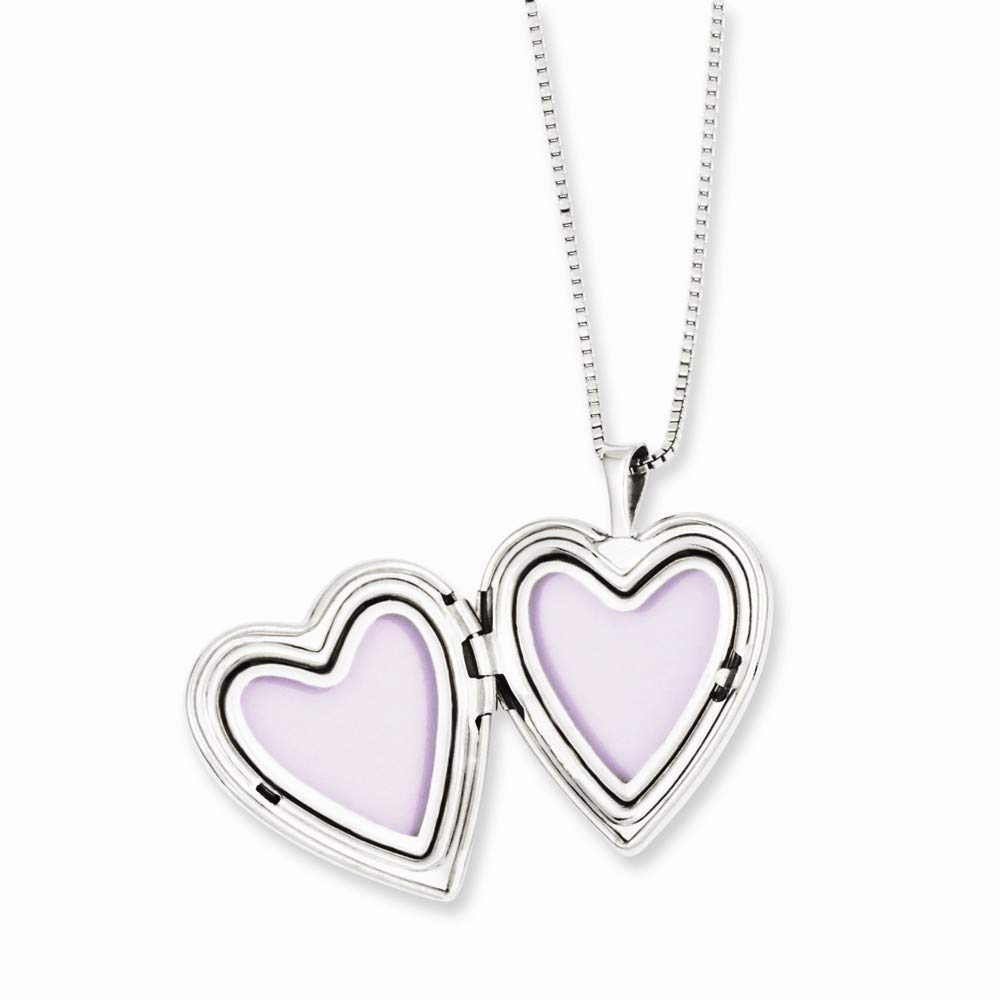 Roy Rose Jewelry Sterling Silver Gold-plated Heart Locket and Pendant Set