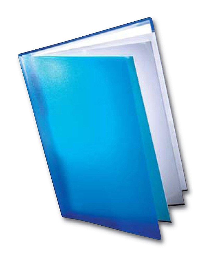 Dekko - Raccoglitore con tasche portadocumenti trasparenti, max 50 fogli, formato A3, colore: Blu DKCBA3BL