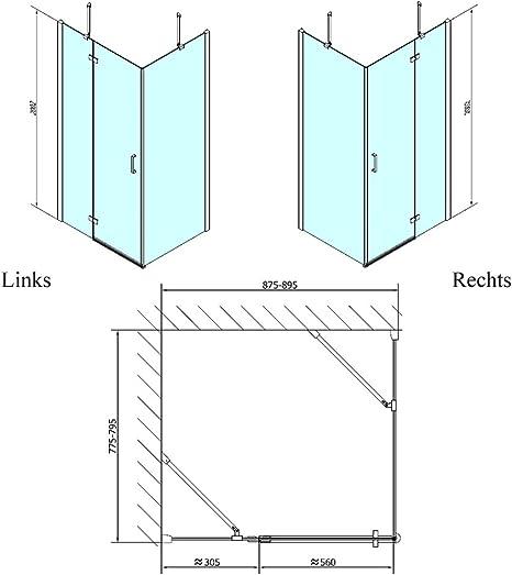 Mampara de 90 x 70 cm, 200 cm de alto, con recubrimiento de vidrio ...