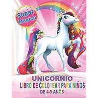 Unicornio Libro de Colorear para Niños de 4