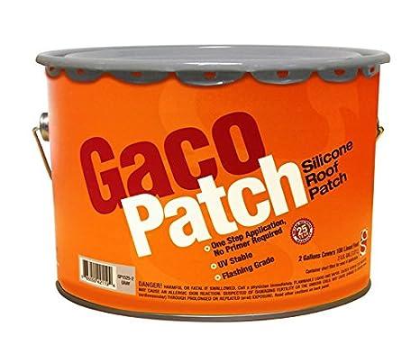 Gaco parche Cable de silicona reforzada techo - parche gris - 2 gallon: Amazon.es: Bricolaje y herramientas