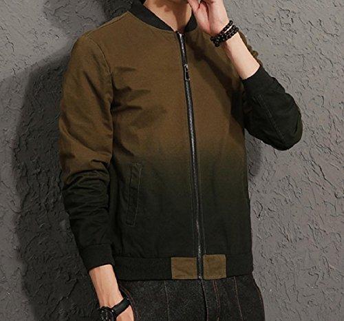 Verde Beeatree Più Esercito Uomini Formato Autunno Baseball Cappotto Di Bomber Ombre Outwear UIU8Rwrqx