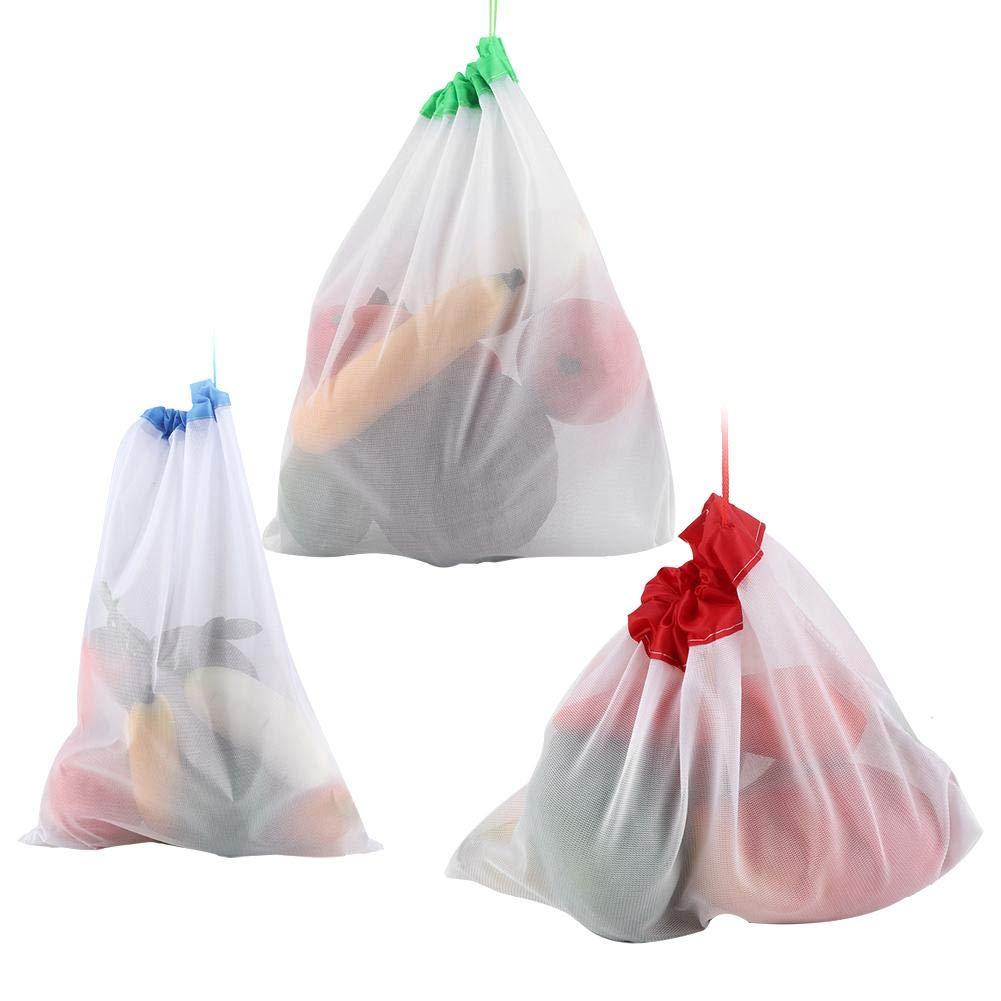 multiusos Ropa Red juguete bolsa Algod/ón Bolsa de malla bolsillo de malla reutilizable Frutas Verduras