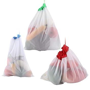12 Unids Reutilizable Malla de Cordón Producir Bolsas Fruta ...
