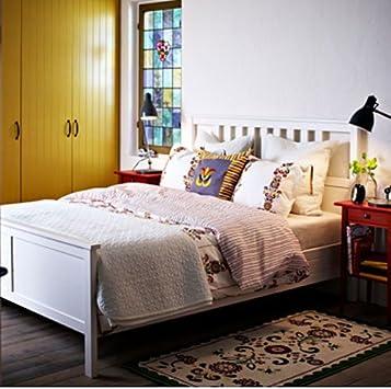 Ikea Hemnes Bedbank.Amazon Com Ikea Hemnes Queen Bed Frame White Wood Kitchen Dining