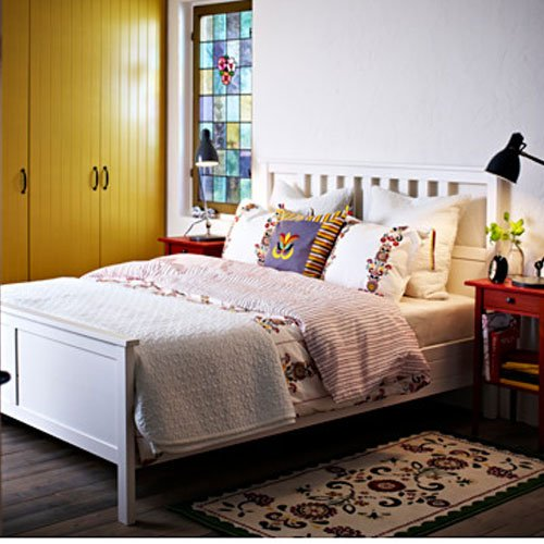 . Amazon com  Ikea Hemnes Full Bed Frame White Wood  Kitchen   Dining