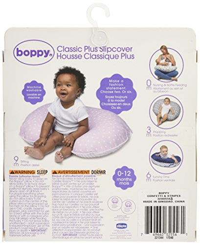 Boppy Pillow Slipcover, Classic Plus Confetti Dot and Stripe Pink by Boppy (Image #9)