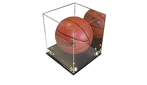 collectible deluxe acrylic nba ncaa size basketball display case with mirror display cases amazon canada - Basketball Display Case