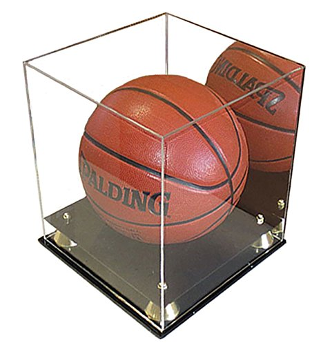 UV Protection Acrylic Basketball/Soccer Display Case with Riser Stand, ULTRA CLEAR, AC-BB20M