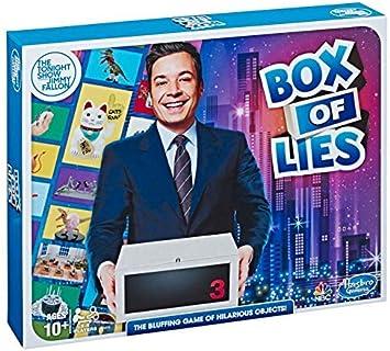 Hasbro Juego The Tonight Show Starring Jimmy Fallon caja de mentiras juego de fiesta para adolescentes y adultos edición limitada: Amazon.es: Juguetes y juegos