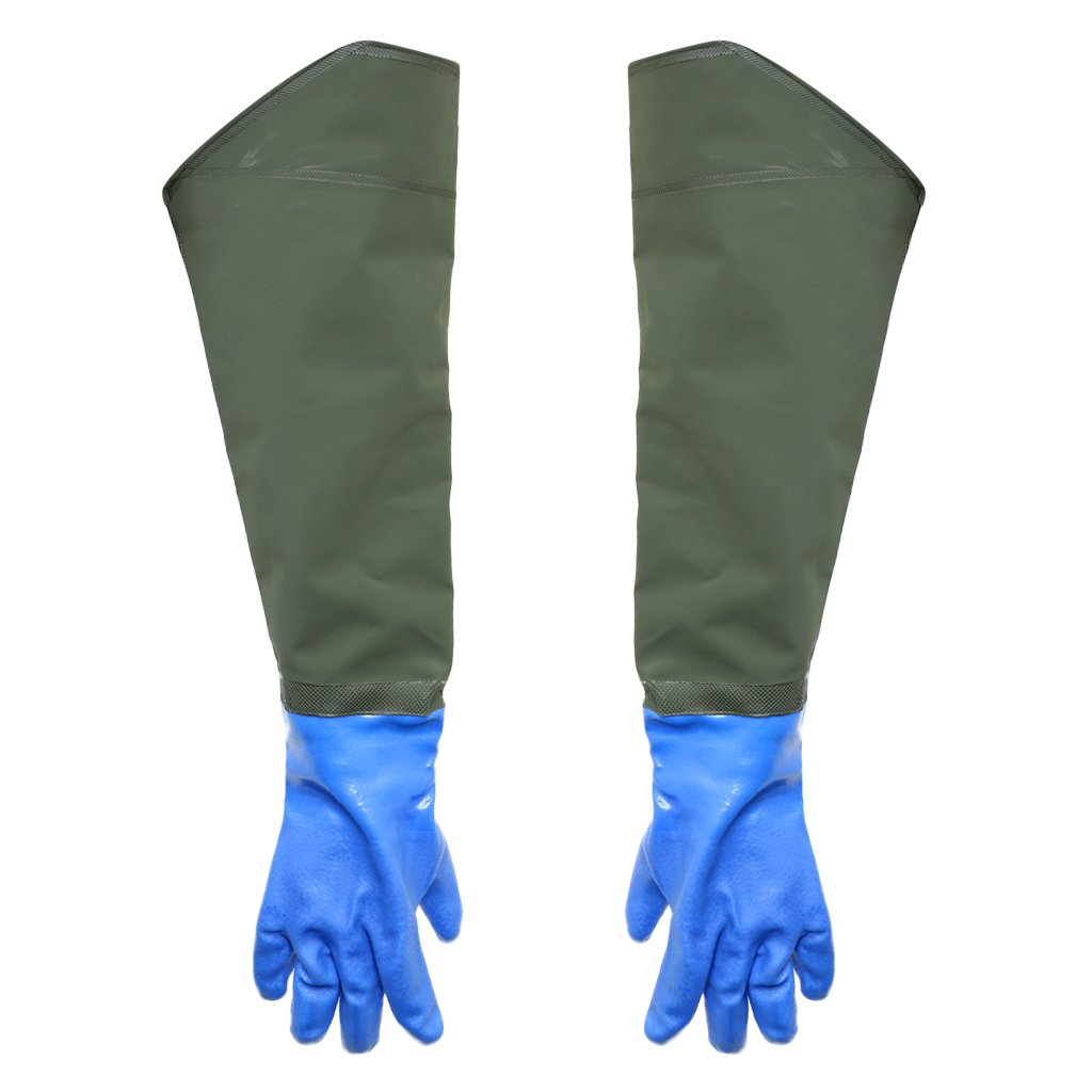 Baoblaze Multifunktionalle Langärmlige Handschuhe Fang Fisch Handschuhe Länge - 24 cm