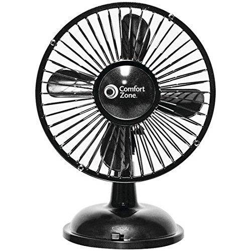 NEW Comfort Zone Oscillating Desk Fan Black FREE SHIPPING