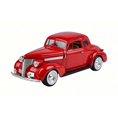 Motor Max 1939 Chevy Coupe, Red 73247W - 1/24 Scale Diecast Model Toy Car: Toys & Games